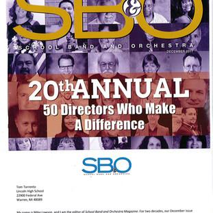 SBO Magazine - Magazine Cover - 50 Director's Michigan Recipient