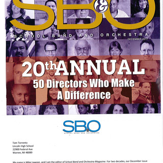 SBO Magazine - Magazine Cover - 50 Director's Michigan Recipient