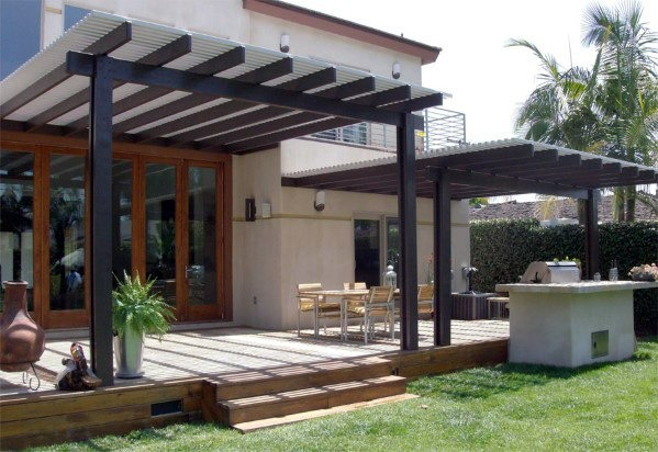 PATIO EXTENSION WITH METAL