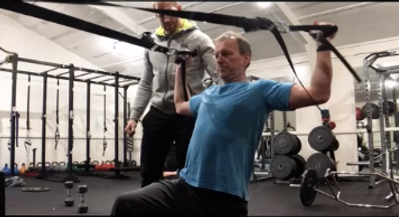 personal training session, man exercising