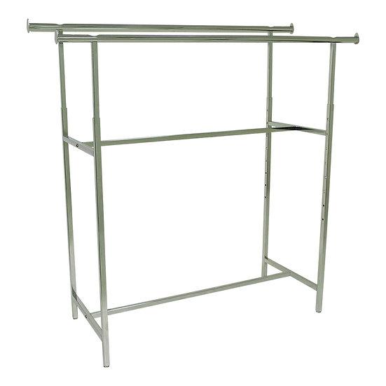 Metal Double-Bar Clothes Rack