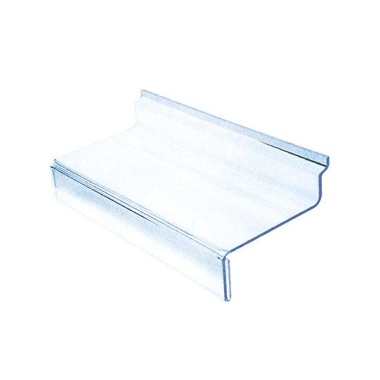 Acrylic Slatwall Shoe Shelf with Price Tag