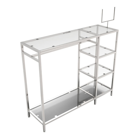 Clothing Metal Structure Display Stand