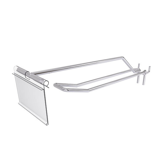 Pegboard Double Wire Hooks with Price Tag