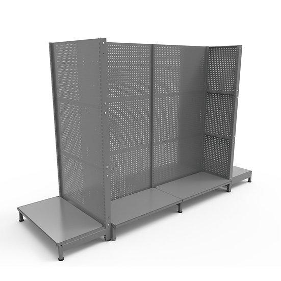 Metal Pegboard Shelves Display Stand (Pegboard back panel)