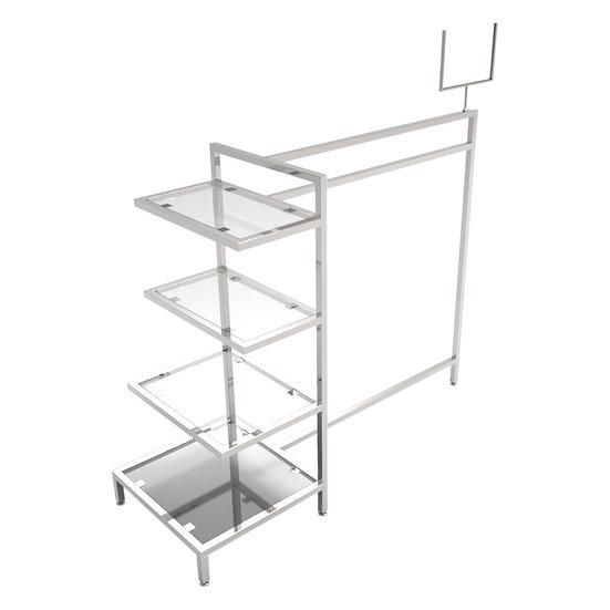 Metal Retail Shelving Display Table