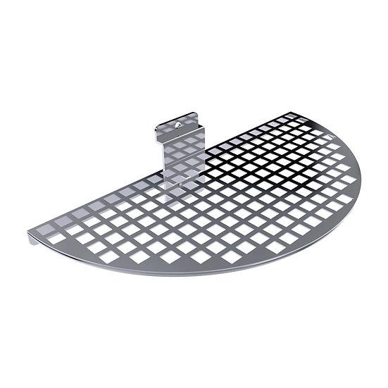 Slatwall Semi Circle Perforated Shelf