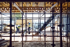 Construction workers on work site