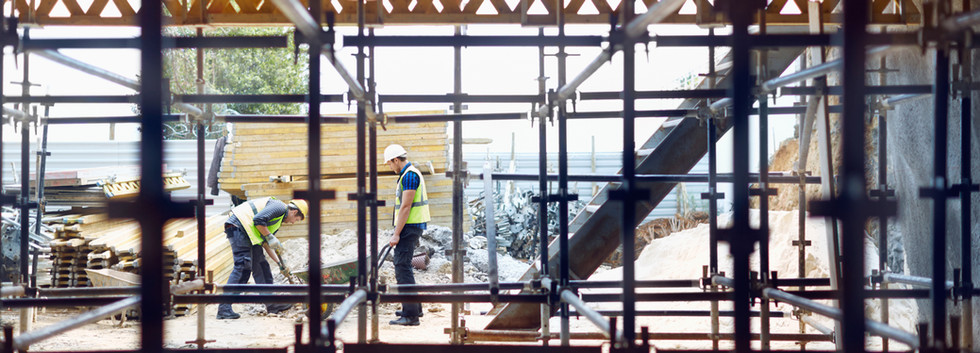 Bauarbeiter auf der Baustelle