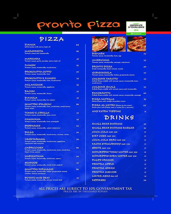 Menu online italian pizza place Kuta Bali