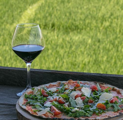 Italian Pizza and good wine in Bali