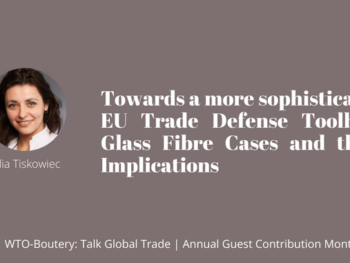 Towards a More Sophisticated EU Trade Defence Toolbox: Glass Fibre Cases and their Implications