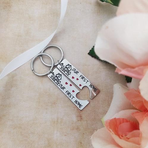 מחזיקי מפתחות זוגיים של בית ראשון