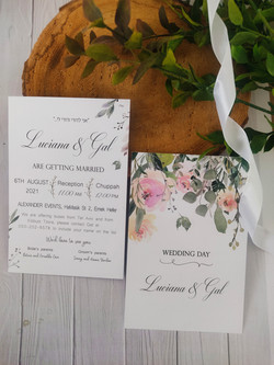 הזמנות לחתונה mgdesign