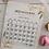 Thumbnail: לוח שנה מגנטי פרחוני