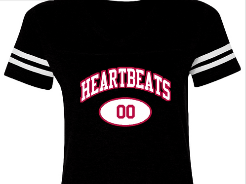 Heartbeats Ladies Football T-Shirt