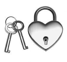 stainless steel heart shaped lock