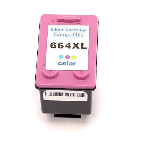 Cartucho HP 664 XL Colorido 14 ML - Compatível
