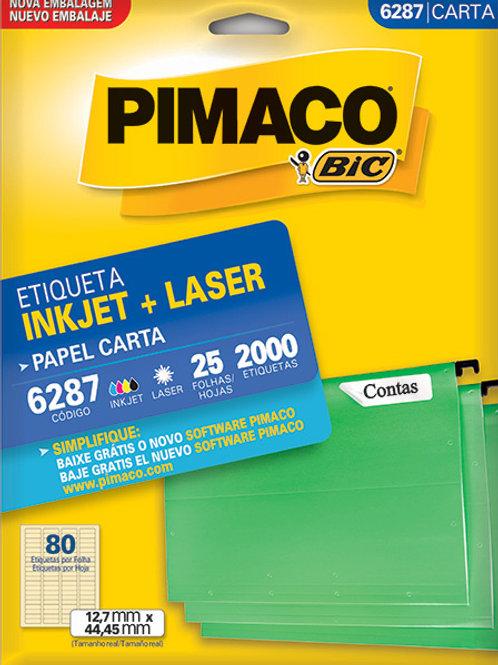 Etiqueta Cod 6287 25 Folhas Pimaco