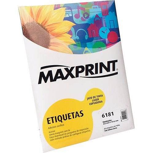 Etiqueta Cod 6181/4007 100 folhas Maxprint