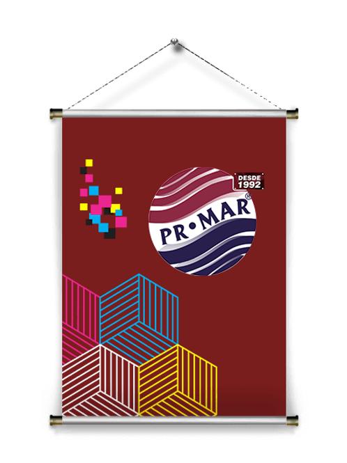 Banner 65 x 100 cm Frente colorida (4x0) Lona