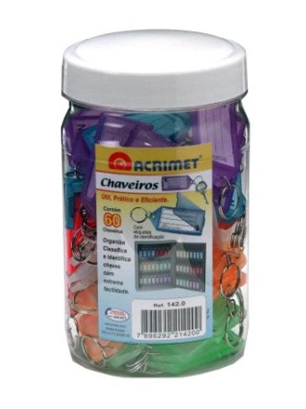 Chaveiros C/etiquetas pote c/60 ref 142.0 colorido - ACRIMET ...