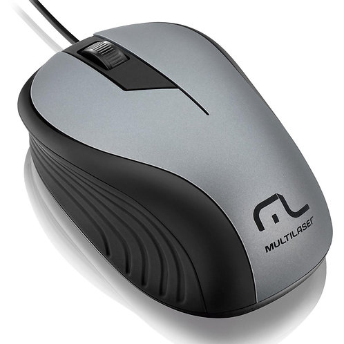 MOUSE OPTICO PRETO/GRAFITE USB MO225 MULTILASER