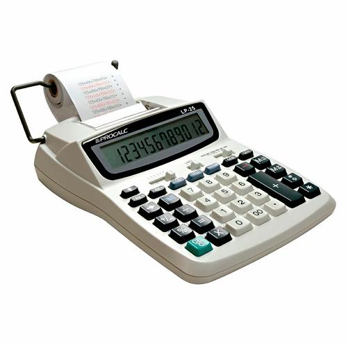 Calculadora de impressão, com Bobina, 12 dígitos, Bivolt- LP25