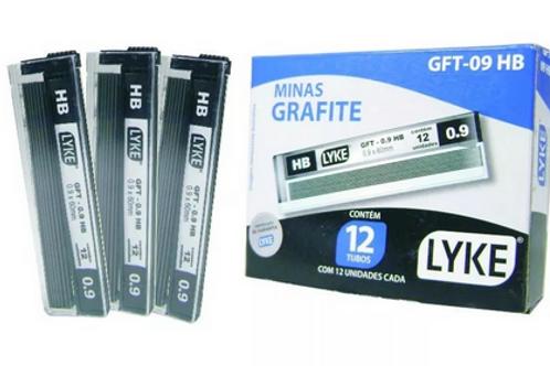 Grafite 0,9mm Hb Tubo - Caixa c/12