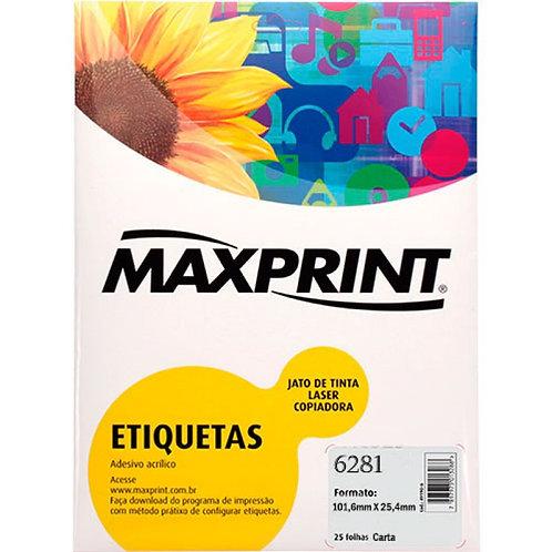 Etiqueta Cod 6281/4008 25 Folhas Maxprint