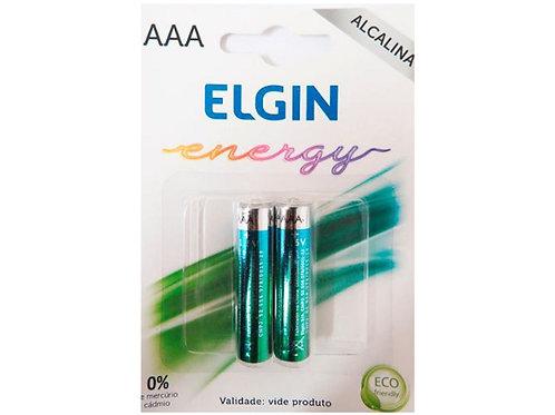 Pilha Alcalina Palito AAA c/ 2 unidades Elgin