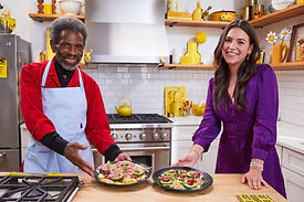 Elena Besser with André De Shields Photo: Food Network Kitchen