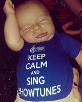 Harand Camp Keep Calm and Sing Showtunes Onesie