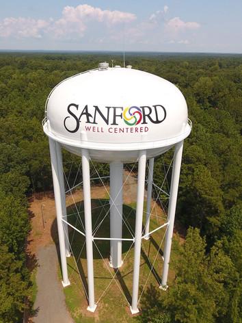 Sanford NC Water Tank - Real Estate Photographer