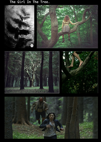 the girl in the tree.  Written by Annabelle Vine.