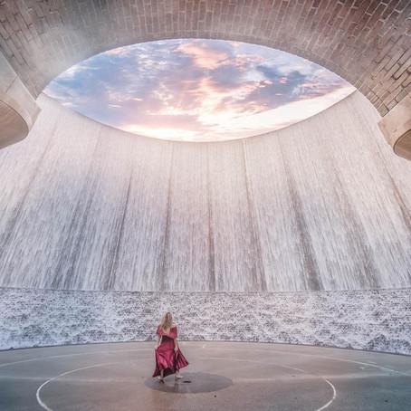 [여행지/텍사스 Houston/인공폭포] The Williams Tower Water Wall