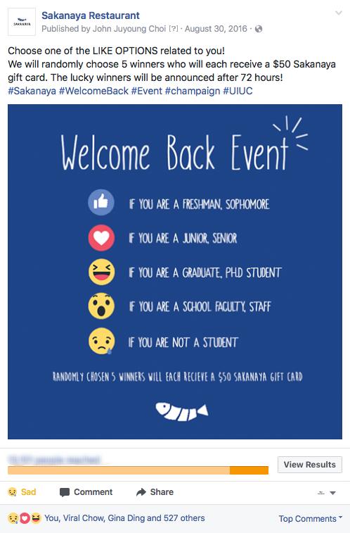 SAKANAYA, Illinois, Facebook Event