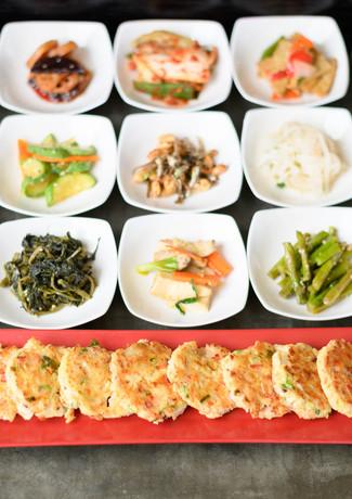 Seafood & Tofu Pancake & Banchan