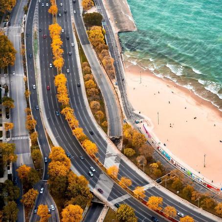 [여행지/일리노이 Chicago/해변] Michigan Lake Drive