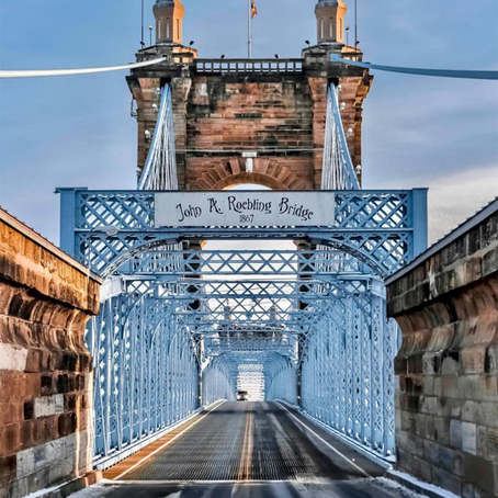 [여행지/켄터키 Covington/다리] John A. Roebling Suspension Bridge