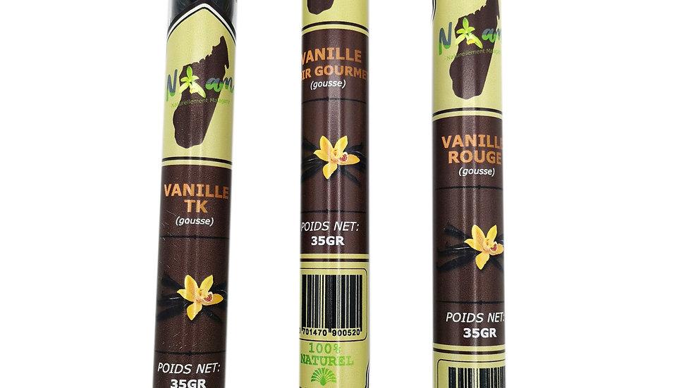 Vanille Gousse Noir Gourmet en tube de 35g