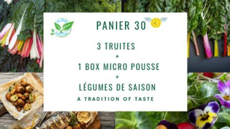 3 truites + 1 Box de micro pousse + légumes de saison