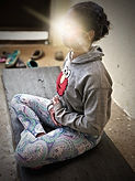 Children meditation