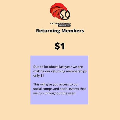 LTU Tennis Club 2021 Returning Member