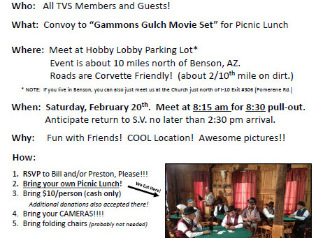"""Convoy to """"Gammons Gulch Movie Set"""" for Picnic Lunch"""