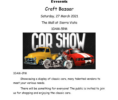 The Butterfly Club Craft Bazaar & Car Show