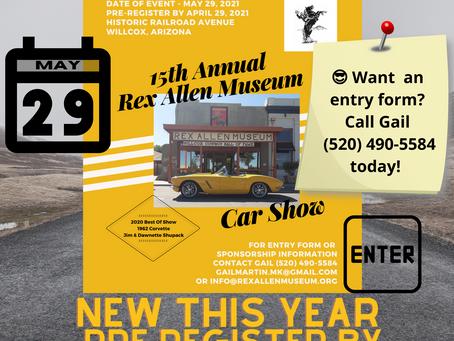 15th Annual Rex Allen Museum Car Show