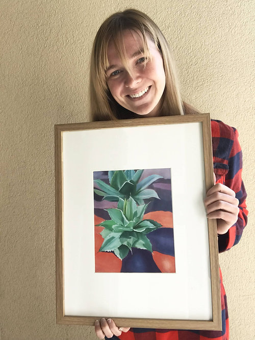 """Agave"" 8x10in Framed Print"