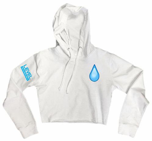 Ladies Level Water Drip Crop Hoodie