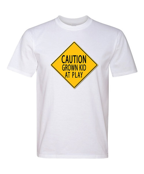Caution Grown Kid At Play Crewneck
